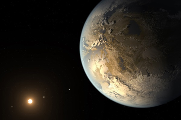 Kepler 186f, an Earth-sized exoplanet in the habitable zone of its star.