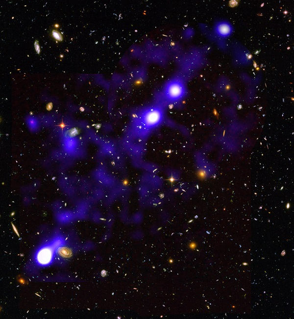 Glowing gas in the cosmic web