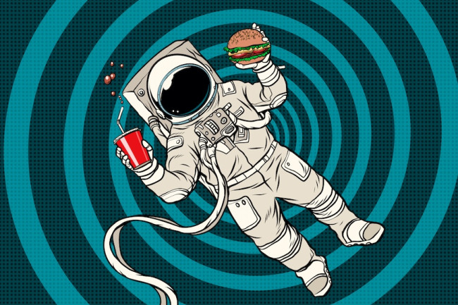 astronaut_eating_a_burger_and_coke