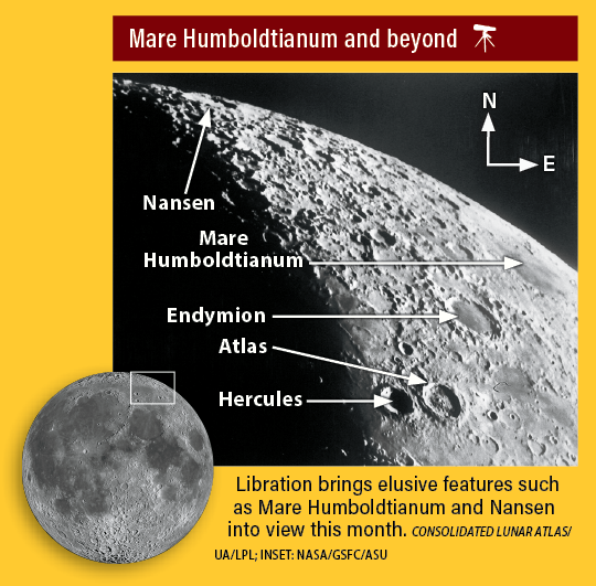 Moon map showing Mare Humboldtianum