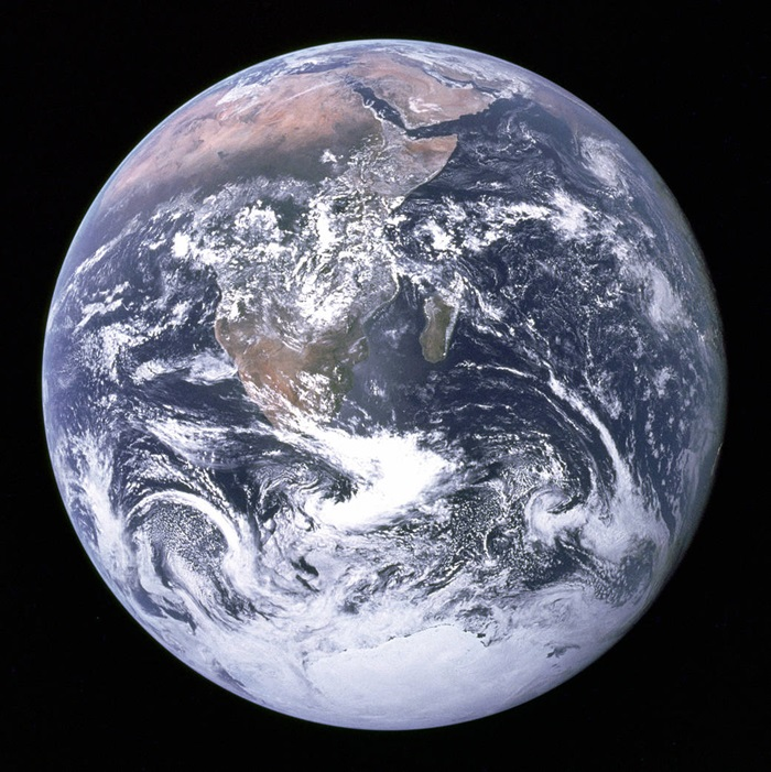 Earth as photographed by Apollo 17 astronauts