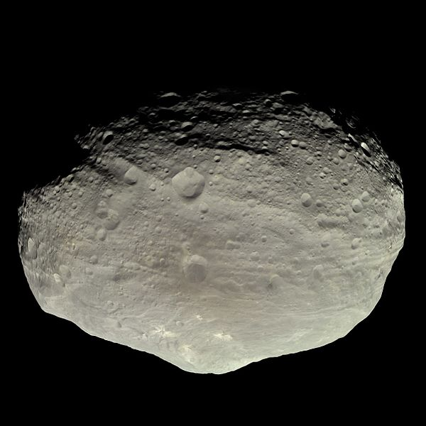 Asteroid Vesta in natural color